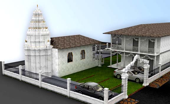 The model of Jain Derasar (temple) to be built in Auckland